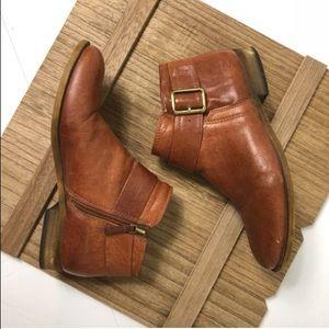 Franco Sarto Holmes Brown Booties
